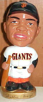 Willie Mays gold base bobblehead