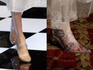 zapato transparente