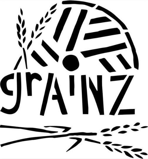 grAiNZ logo (two stalks of grain and an abstract plowed field)