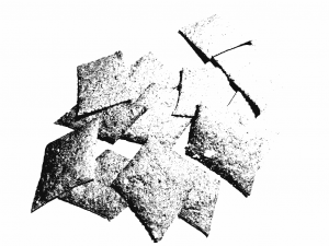 [Grainy black and white] small pile of crackers.