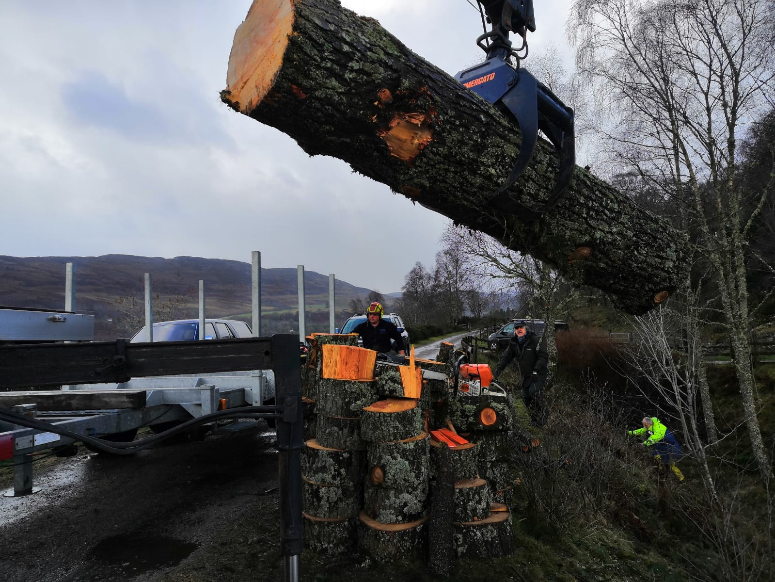 loading the first log