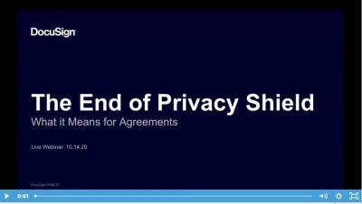 The End Of Privacy Shield - What's Next For Agreements?