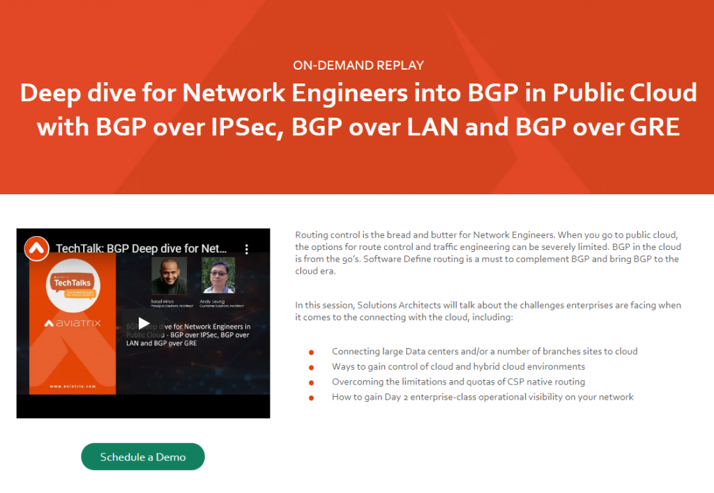 Deep dive for Network Engineers into BGP in Public Cloud with BGP over IPSec, BGP over LAN and BGP over GRE