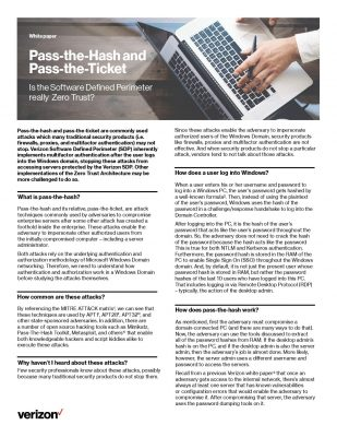 Pass-the-Hash and Pass-the-Ticket