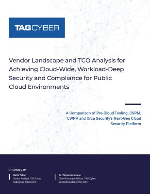 TAG Cyber: Vendor Landscape and TCO Analysis for Achieving...