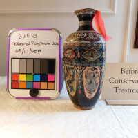 Hexagonal Polychrome Vase