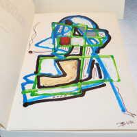Bukowski Book with Painted Leaflet