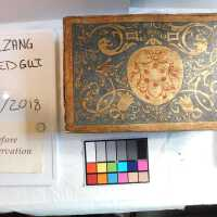 Medieval Painted Gilt Box with Key picture number 6