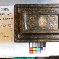 Medieval Painted Gilt Box with Key picture number 3