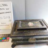Medieval Painted Gilt Box with Key picture number 2