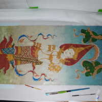 Thai Scroll Painting #2 picture number 224