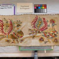Skyros Hoopoe Birds Embroidered Panel