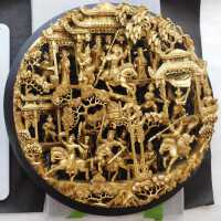 Large Round Chinese woodcarving