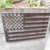Outdoor flag sculpture