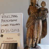 Santos Polychrome Wood Figures picture number 1