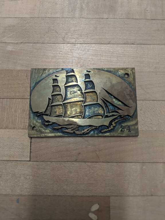 Ship plate die picture number 1