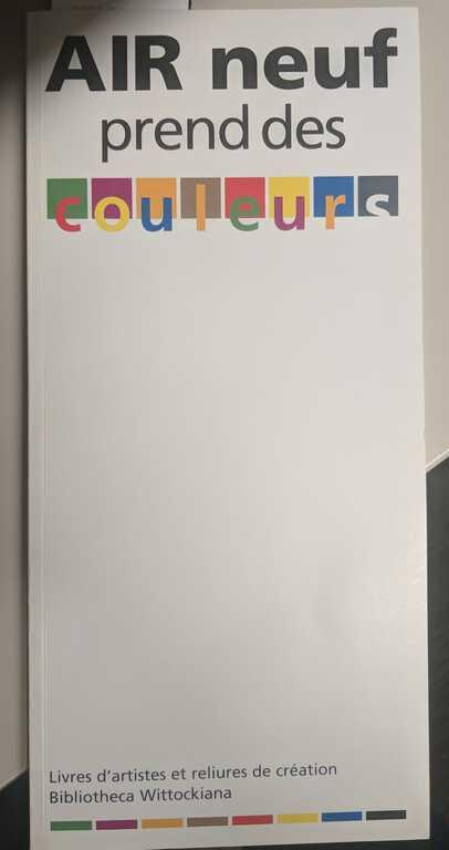 AIR neuf prend des couleurs: livres d'artistes et reliures de création picture number 1