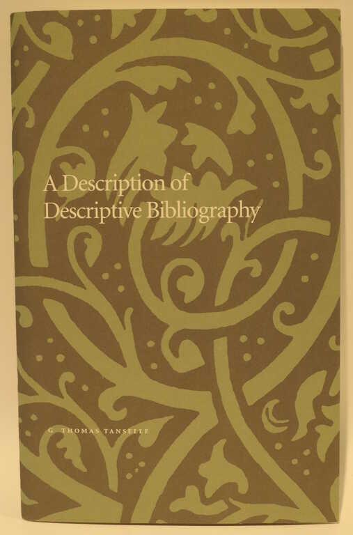 A Description of Descriptive Bibliography picture number 1