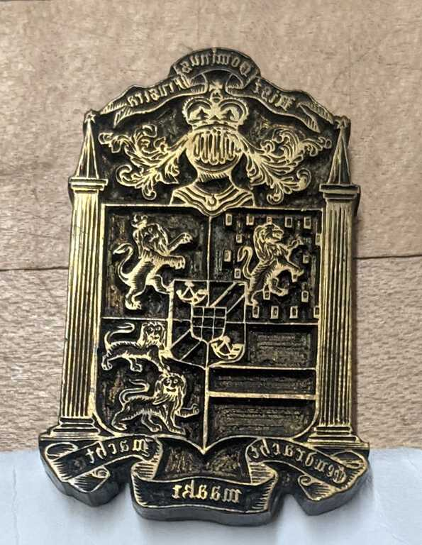 Coat of arms ornament die picture number 1