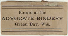 Advocate. Bindery picture number 1
