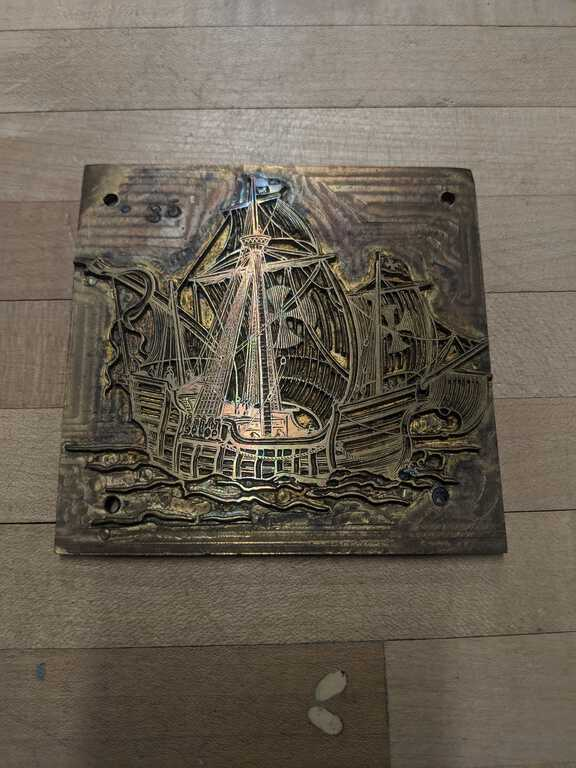 Sailboat plate die picture number 1