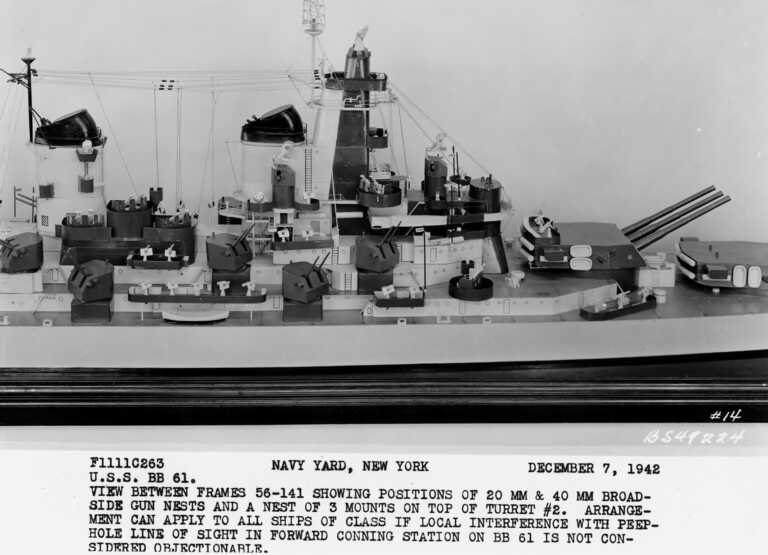 USS Iowa, (lead ship of the Iowa class battleships), concept model - December 7, 1942 - F1111C263 picture number 1