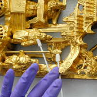 Rectangular gilded carving picture number 6