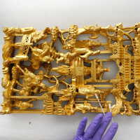 Rectangular gilded carving picture number 7