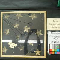 Stars in gold diamond-shape frame picture number 2