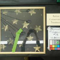 Stars in gold diamond-shape frame picture number 4