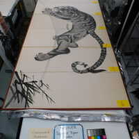 Japanese Tiger Ink Painting on screen picture number 2