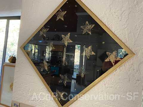 Stars in gold diamond-shape frame picture number 1