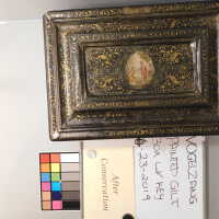 Medieval Painted Gilt Box with Key picture number 11