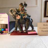 Raku Mounted Elephant