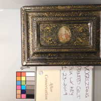 Medieval Painted Gilt Box with Key picture number 12