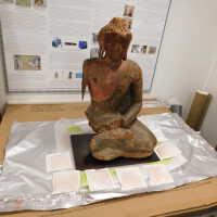 Painted Wooded Buddha
