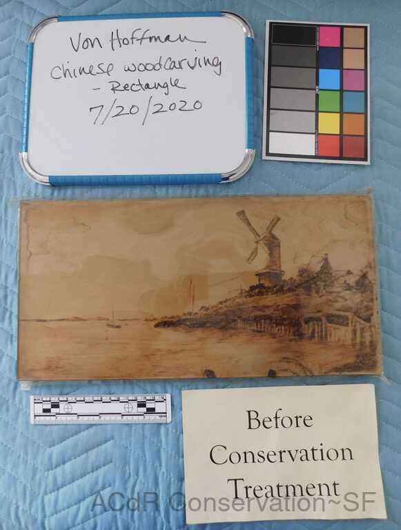 Dutch Windmill scene - wood burnishing picture number 1