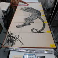 Japanese Tiger Ink Painting on screen picture number 38