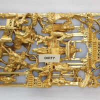 Rectangular gilded carving picture number 1