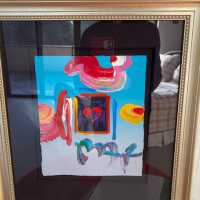 Framed heart with abstract surroundings