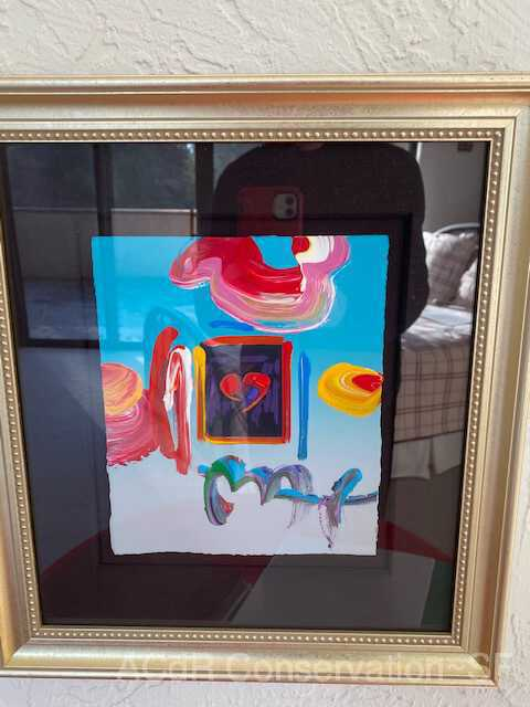 Framed heart with abstract surroundings picture number 1