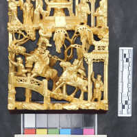 Rectangular gilded carving picture number 8