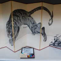 Japanese Tiger Ink Painting on screen