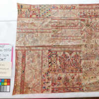 Persian Cross-Stitch; Believed to be collected or given to Phoebe Hearst in the late 1800s or early 1910s.