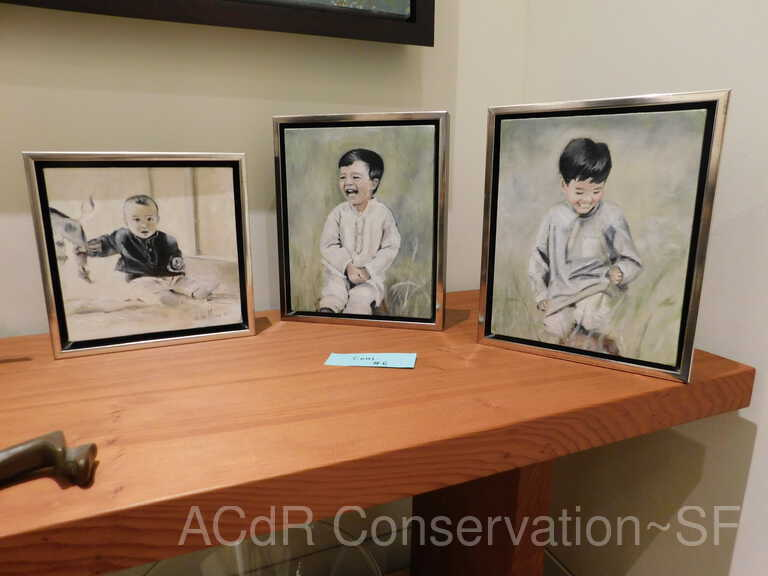 3 Framed Paintings of Boys picture number 1