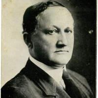 2020.215.001 Recto; Black and white postcard of Senator Gordon Lee