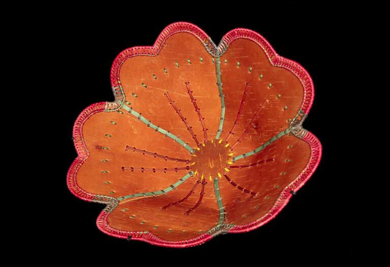 Flower Shaped Birch Bark Basket picture number 1