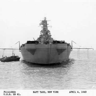 """2E USS Iowa BB-61 as built, trials, and """"working up"""".  March through July, 1943. folder thumbnail."""