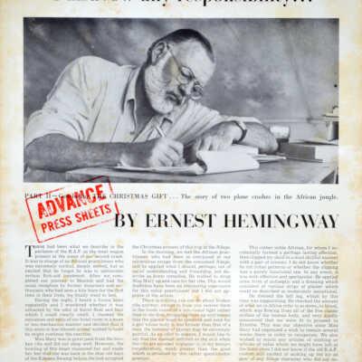 Ernest Hemingway Collection folder thumbnail.