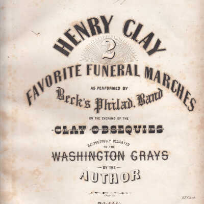 Henry Clay Death and Funeral Items folder image